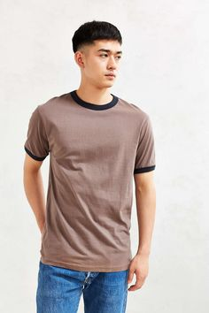 Ringer Tee Color- Grey Size- Large