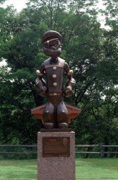 Popeye  statue  in  Chester,  Illinois .