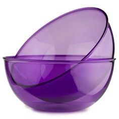 purple clear glass bowls