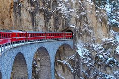 Tunnel Entry, Landwasser Viaduct, Switzerland
