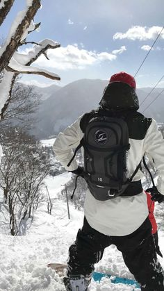 Snowboarding in Japan. JP Solberg dropping in. Yes on life!