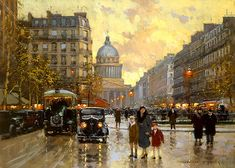 Edouard Cortes - Rue Dulm Pantheon reminds me of the city in the movie anastasia
