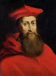A detail of a portrait of Cardinal Reginald Pole, the son of the executed Duchess of Salisbury, Margaret de la Pole, and an ally of Mary Tudor.