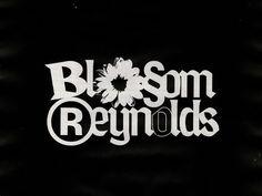Blossom Reynolds designed by Zach Halfhill. Typography Logo, Graphic Design Typography, Graphic Design Art, Graphic Design Inspiration, Branding Design, Type Design, Logo Design, Lettering, Logos Retro