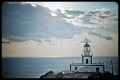 Santorini Lighthouse by Charlie Khoury, via 500px