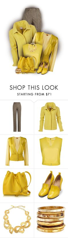 """Metallic Lemon (9.7.17)"" by stylesbymimi ❤ liked on Polyvore featuring Missoni, Alice + Olivia, Lancaster, Bill Blass, Oscar de la Renta, Ashley Pittman and Givenchy"