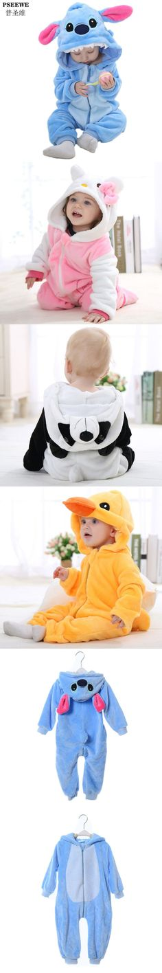 New Year Newborn baby rompers Winter Flannel Stitch Panda Baby boy clothes Jumpsuit costume Baby Girl costume animal Rompers https://presentbaby.com
