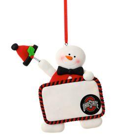 Look what I found on #zulily! Ohio State Buckeyes Claydough Snowman Ornament #zulilyfinds