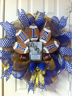 I want! - Deco Mesh Tulsa Oklahoma University Wreath by DebbiesDoorDelights, $55.00