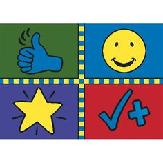 Motivation Mat Kids Rug in Multi Color x - Joy Carpets simple design enables educators to encourage their students' efforts. Teacher's can recognize a child's kind deed, good effort, or nice manners. Motivation Mat© will Kids Area Rugs, Standard Textile, Cool Rugs, Welcome Mats, Rug Shapes, Rugs On Carpet, Carpets, Beige Area Rugs, Rug Size
