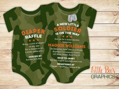 Us military baby shower digital 5x7 invitation digital 10 camouflage baby shower invitations army soldier invitation onesie die cut shaped single or double sided filmwisefo