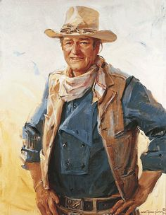 John Wayne, 1978  by Everett Raymond Kinstler  Oil on canvas, 44 x 34 inches at National Cowboy and Western Heritage Museum in Oklahoma City