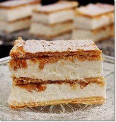Gizi-receptjei. Várok mindenkit.: Citromos-krémes szelet. My Recipes, Cookie Recipes, Recipies, Hungarian Recipes, Sweet And Salty, Vanilla Cake, Tiramisu, Oreo, Ham
