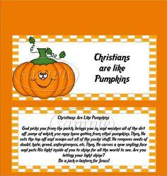 Christian Pumpkin Candy Bar Wrappers