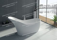 8613-solid surface white matt bathtub-JINGZUN Finish :matt or gloss Color: white/black/red/others Website: http://jingzun-bath.en.made-in-china.com
