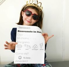 Come learn Italian with us! These are simple, easy Italian lessons for kids. There are free printables and free Italian worksheets for kids Free Italian Lessons, Worksheets For Kids, Activities For Kids, Everyday Italian, Learning Italian, Lessons For Kids, Teaching Kids, Free Printables, T Shirts For Women