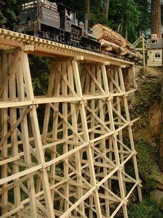 On30 Logging Layout Bridge Scene