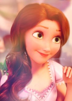 Rapunzel with longer brown hair. ❤_❤ but her brown hair wouldn't grow. The brown hair that mother gothel cut when she was a baby didn't grow. She will always have short hair Rapunzel Disney, Disney Girls, Disney Love, Disney Magic, Disney Art, Rapunzel Movie, Tangled Movie, Rapunzel Hair, Princess Rapunzel