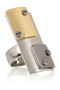 Reed Krakoff | Gold-plated, silver-plated and gunmetal-plated ring by jeanie