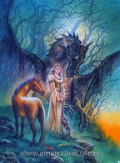 Luis Royo - Fantasy Art - Tree Dragon