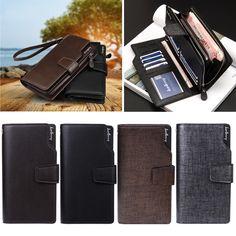Men's Business Leather ID Card Holder Zip Wallet Purse Clutch Checkbook Billfold , https://myalphastore.com/products/mens-business-leather-id-card-holder-zip-wallet-purse-clutch-checkbook-billfold/,