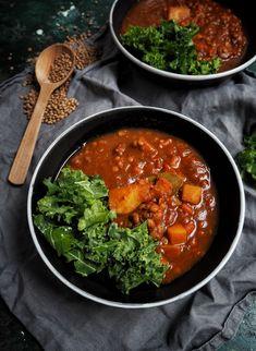 Hustá čočková polévka s bramborem Curry, Cooking, Ethnic Recipes, Health, Food, Cucina, Curries, Salud, Health Care