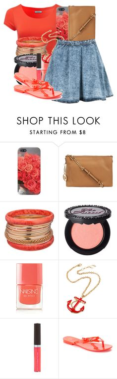"""""""................"""" by urqueen247 ❤ liked on Polyvore featuring MICHAEL Michael Kors, Ashley Stewart, Too Faced Cosmetics, Nails Inc., Amrita Singh, Becca and Mel by Melissa"""