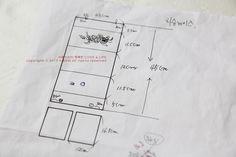 장미꽃자수 티슈케이스 : 네이버 블로그 Tissue Boxes, Couture, Sewing Patterns, Pouch, Diagram, Cover, How To Make, Life, Design