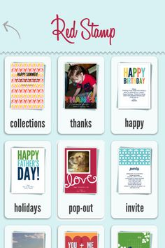 personalized photo cards, notes, invitations, and announcements for iphone, ipad, and ipod touch
