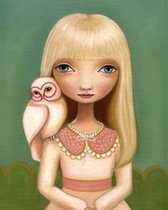 'Elsa' (and her sweet little owl) by Marisol Spoon