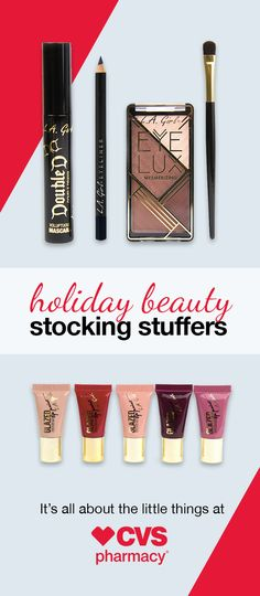 Whether it's a festive winter lip shade or a luxe smoky eye kit, find all your beauty gifts at CVS.