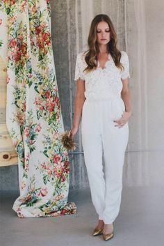 2014 Wedding Trend: 53 Elegant Bridal Pantsuits   HappyWedd.com