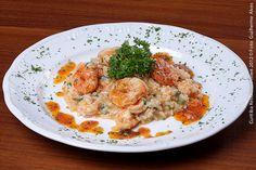 Lugana Trattoria (jantar)     Risoto de camarão com rúcula