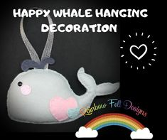 Handmade Shop, Handmade Gifts, Felt Gifts, Bespoke Jewellery, Support Small Business, Creative Gifts, Whale, Arts And Crafts, Etsy Shop