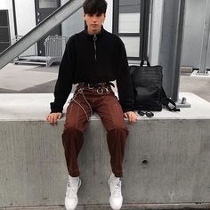 Turnin Haters into Believers Soft Grunge Outfits, Edgy Outfits, Fashion Outfits, Fresh Outfits, Aesthetic Fashion, Urban Fashion, Aesthetic Clothes, Urban Aesthetic, Mens Grunge Fashion