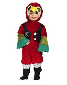 Sidekick for your pirate costume: Parrot pirate costume.