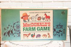 Vintage MacDonald's Farm Game 1960s Animal Board by CabinOn6th