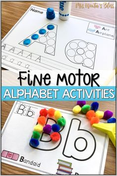 Fine motor alphabet activities are a fun learning center for preschool and kindergarten kids. In this blog post get free printables to use with your children today! #finemotor #finemotorskills #alphabetactivities #kindergarten #preschool Tracing Practice Preschool, Preschool Phonics, Learning Centers, Fun Learning, Letter Recognition, Alphabet Activities, Band Aid, Fine Motor Skills, Pre School
