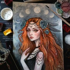 #art #illustration #witch #watercolorpainting #witchcraft #girl #blackfury