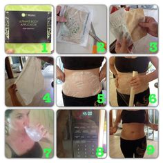 Applying and using the body wrap is simple. The wrap is made of a thin cloth infused with botanical ingredients. It will be very moist. Apply it on the area then wrap with plastic wrap. DRINK LOTS OF WATER WHILE THE WRAP IS ON AND UP TO 3 DAYS AFTER. You can leave it on for 45 minutes then remove and massage the remaining cream into your skin. It may be left on up to 8 hours the next time you wrap. It's that simple!