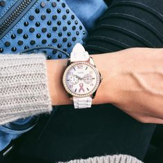 Time's running out! Join us + @nicholeciotti in supporting #BreastCancerAwarenessMonth and The Get In Touch Foundation with two limited-edition #GUESSWatches