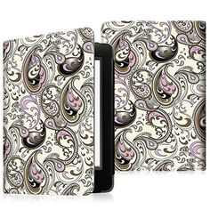 "Fintie Folio Case for Kindle 8th Generation - The Book Style Slim-Fit Vegan Leather Cover with Auto Wake/Sleep for Amazon All-New Kindle (8th Generation - 2016 release) E-reader 6"" Glare Free Touchscreen Display, Paisley Waves - http://www.computerlaptoprepairsyork.co.uk/new-product-releases/fintie-folio-case-for-kindle-8th-generation-the-book-style-slim-fit-vegan-leather-cover-with-auto-wakesleep-for-amazon-all-new-kindle-8th-generation-2016-release-e-reader-6-glare-free-tou"