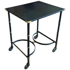 Jacques Adnet Bar Cart | From a unique collection of antique and modern bar carts at https://www.1stdibs.com/furniture/tables/bar-carts/