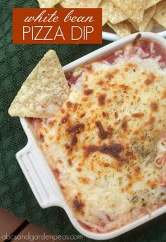 White Bean Pizza Dip {with @CentoFineFoods giveaway} #MomBlogTourFF