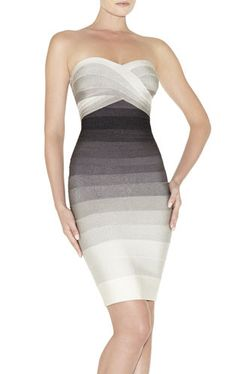 http://www.herveleger.com Herve Leger Izzie Ombre Bandage Dress I so wish I had the money to get me a dress like this!