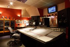 SSL console in The Square recording studio in Hoxton, London
