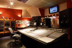 SSL console in The Square recording studio in Hoxton, London