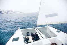 Arctic Fjord Sailing Tromsø - Come join us on a spacious catamaran with a small group to witness marine life and try fishing in the Arctic. Us Sailing, Tromso, Lofoten, Boat Tours, Catamaran, Plan Your Trip, Marine Life, Pukka, Arctic