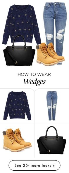 """""""Christmas sweater"""" by michelluuh07 on Polyvore featuring Topshop, Timberland and MICHAEL Michael Kors"""