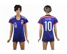 Giappone Maglie Calcio Mondiali 2014 Donna Casa NO.10 Kagawa